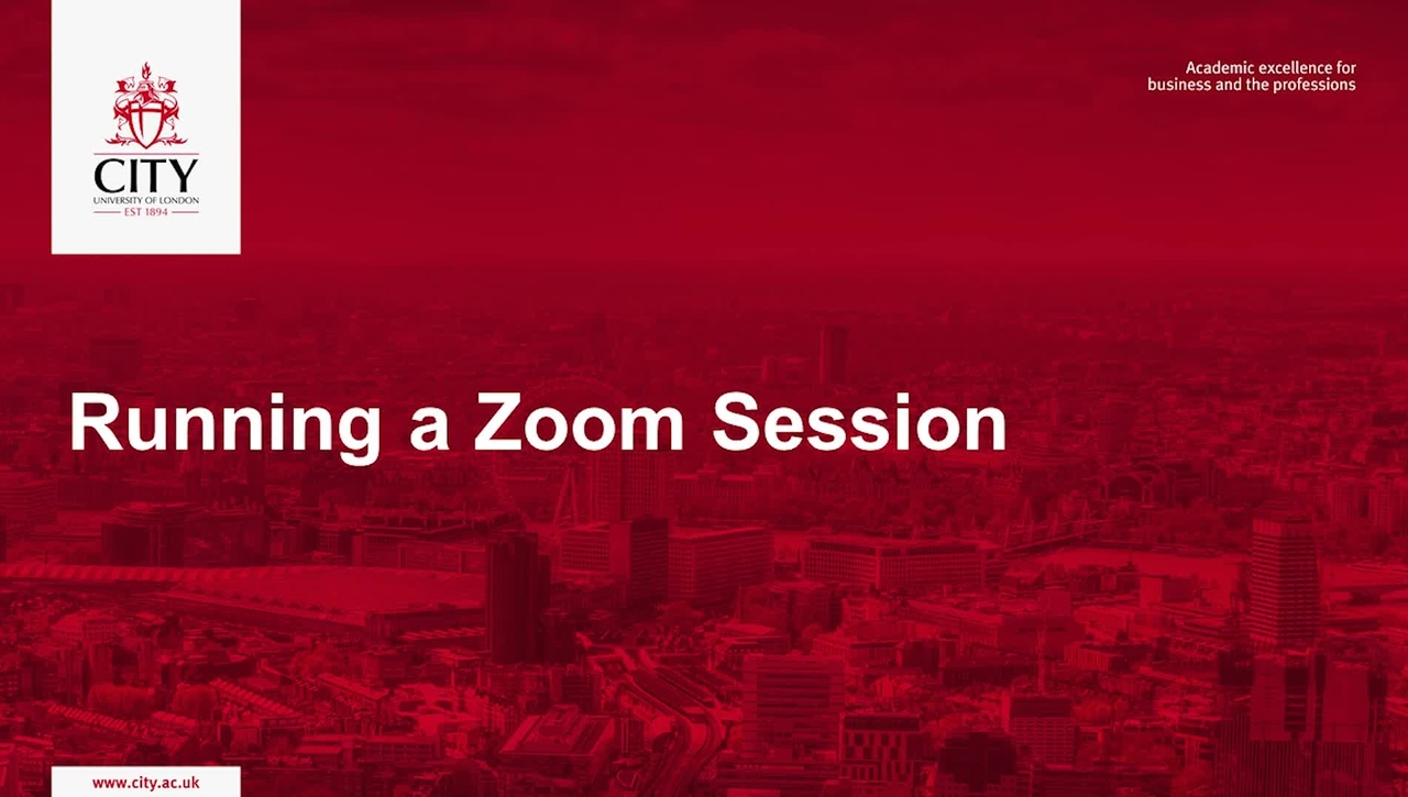 Running a Zoom Session Workshop