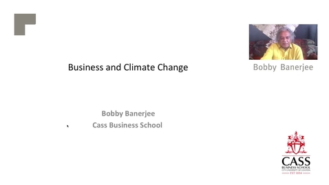 Thumbnail for entry Business and Climate Change  - Professor Bobby Banerjee