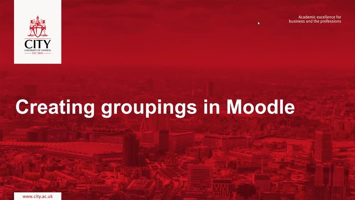 Creating Groupings On Moodle
