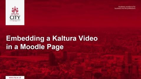 Thumbnail for entry Embedding a Kaltura Video in a Moodle Page