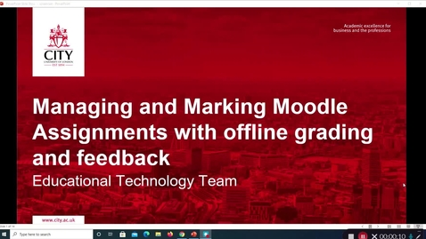 Thumbnail for entry Managing and Marking Moodle assignments with offline grading and feedback