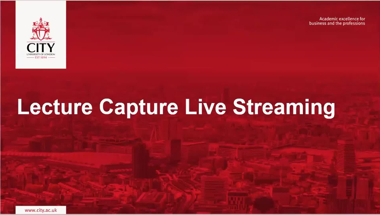 Lecture Capture Live Streaming v2