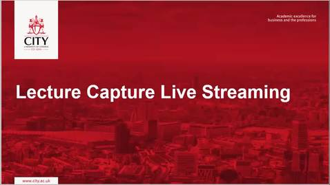 Thumbnail for entry Lecture Capture Live Streaming v2