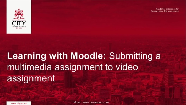 Submitting a multimedia assignment to video assignment