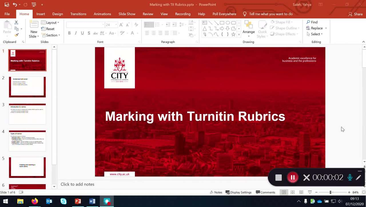Marking with Turnitin Rubrics (v2)