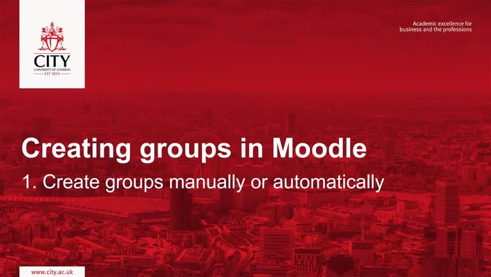 Create groups manually or automatically