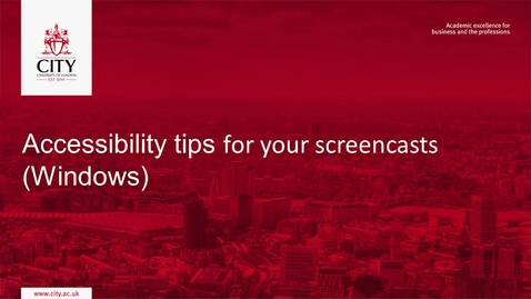 Thumbnail for entry Accessibility Tips for your Screencasts (Windows)