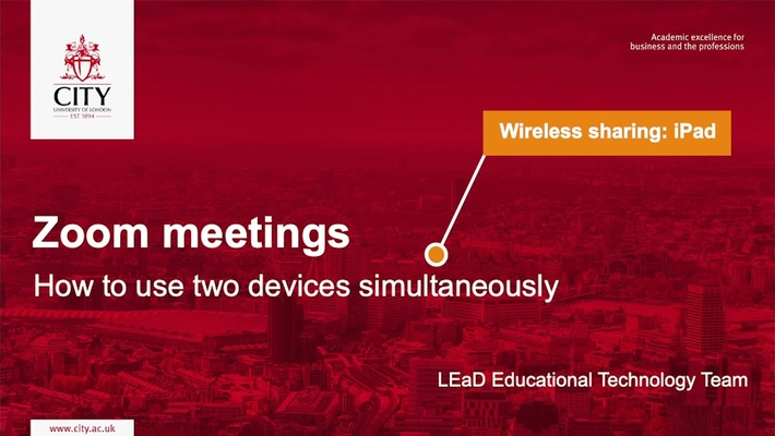 How to join Zoom on 2 devices: Wireless sharing from tablet to desktop